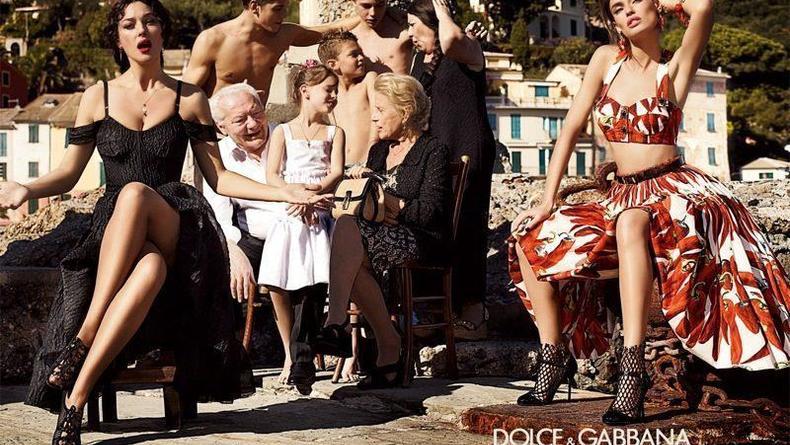 Беллуччи и Балти в рекламной кампании Dolce&Gabbana
