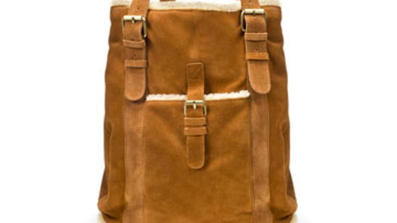 сумка Zara, натуральная замша