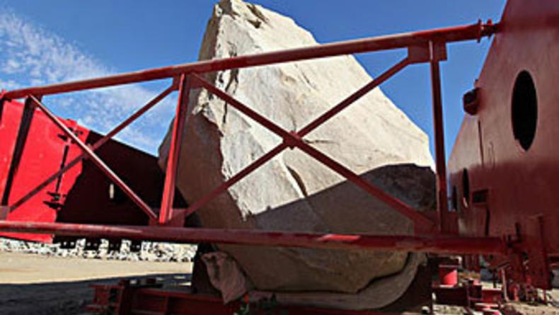 В американском музее выставят камень в 340 тонн