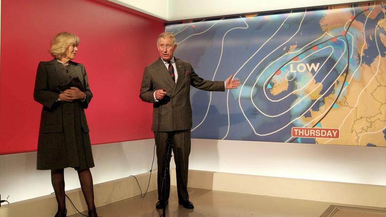 Принц Чарльз стал ведущим погоды. Видео
