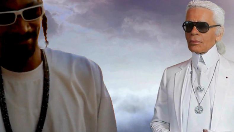 Карл Лагерфельд  и Snoop Dogg снялись вместе в видеоклипе