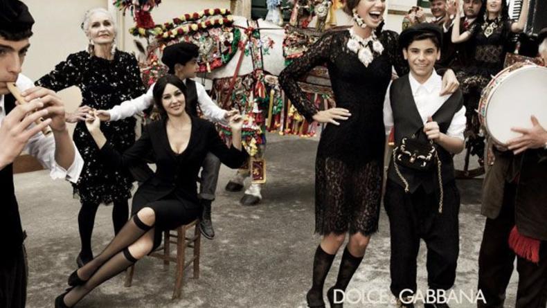 Моника Белуччи в рекламной кампании D&G 2012. Фото