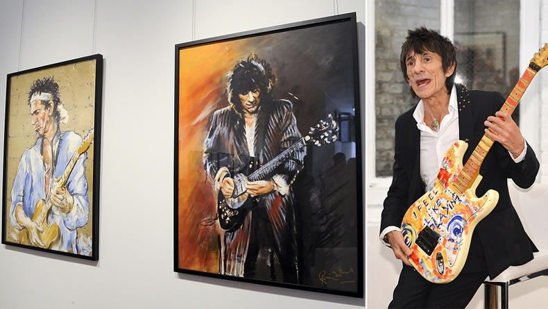 Гитарист The Rolling Stones открыл выставку (ВИДЕО)