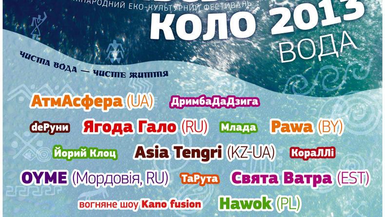 VІ Міжнародний еко-культурний фестиваль Трипільське коло 2013. Вода