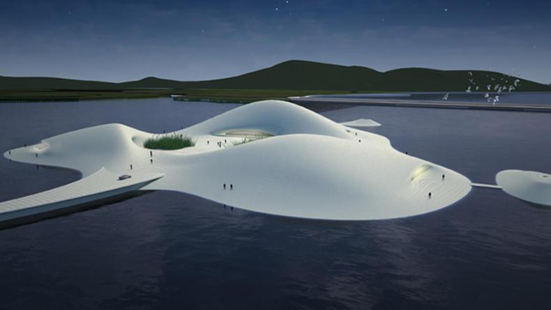 В Китае строят музей на отдельном острове (ФОТО)