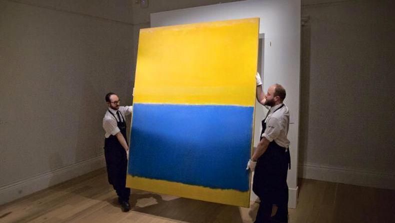 Самый дорогой лот на аукционе Sotheby's: желто-синяя картина