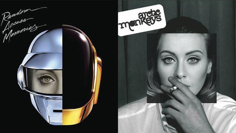 Портрет Адель поместили на обложки культовых альбомов