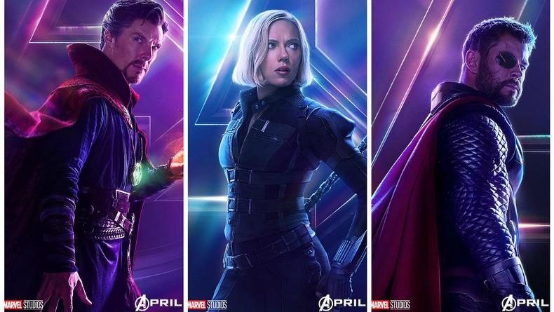 Студия Marvel выпустила серию постеров с Мстителями