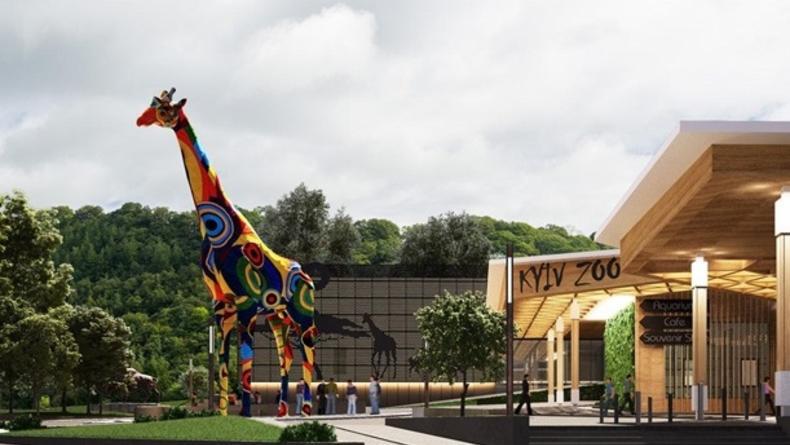 Возле киевского зоопарка появится необычная скульптура жирафа