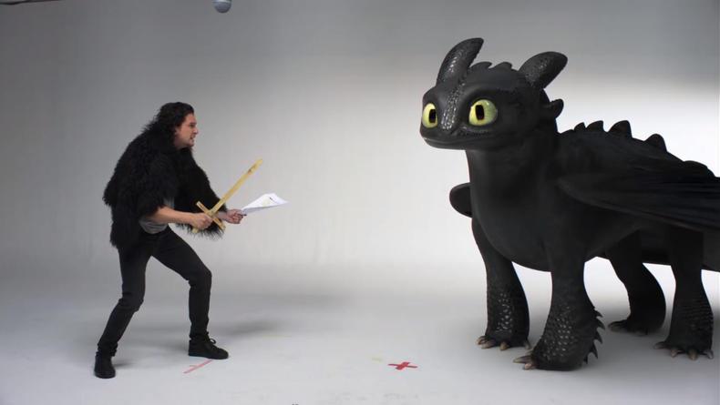 Джон Сноу прошел пробы на Игру Престолов с драконом Беззубиком