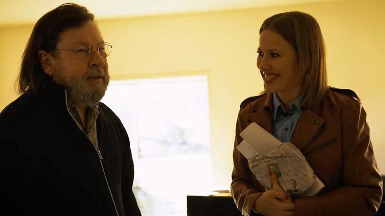 Ксения Собчак взяла интервью у скандального режиссера Ларса фон Триера