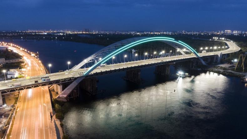 Недостроенный Подольско-Воскресенский мост уже засветился