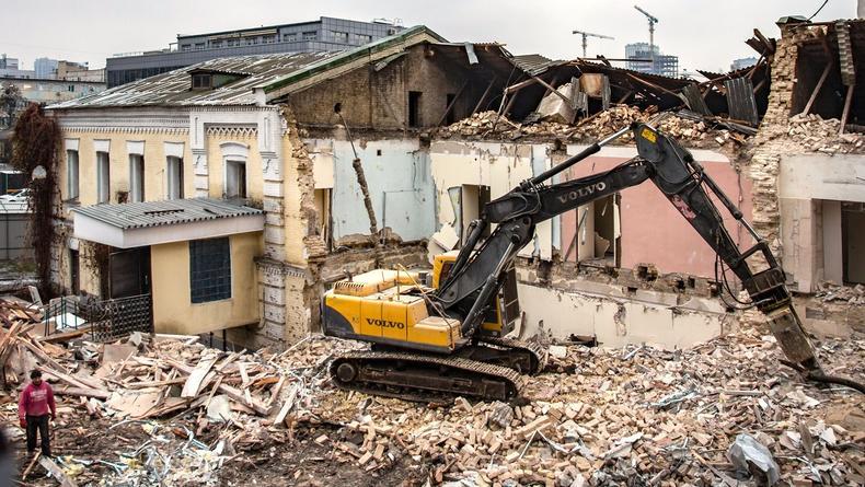 Историческое здание в Киеве сносят ради нового офисного центра