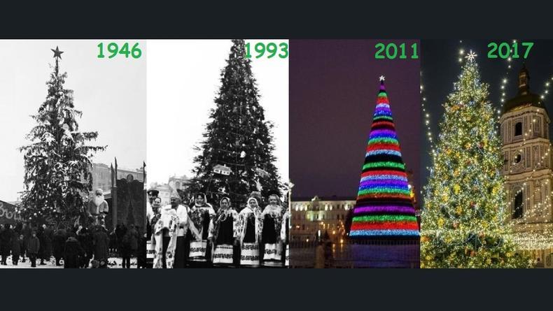 Главная елка Украины: Как выглядела в разные годы