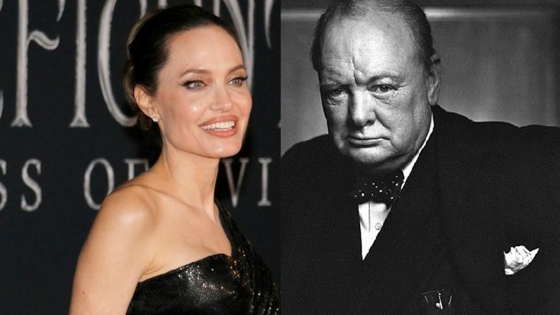 Анджелина Джоли продала за миллионы долларов картину Уинстона Черчилля