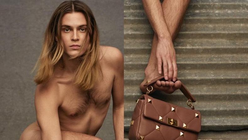 """Пользователи сети раскритиковали голого мужчину из рекламы """"Valentino"""""""