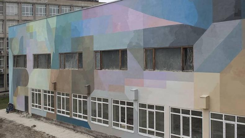 На Киевской политехнике появился новый мурал