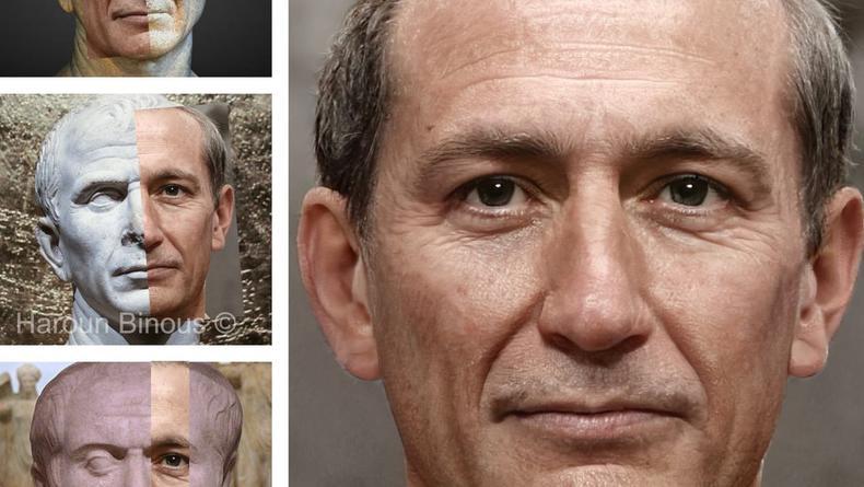 С помощью фотошопа восстановлены лица 20 римских императоров