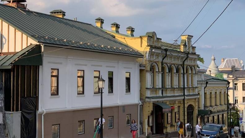 В Киеве на Андреевском спуске отреставрировано здание 19 века