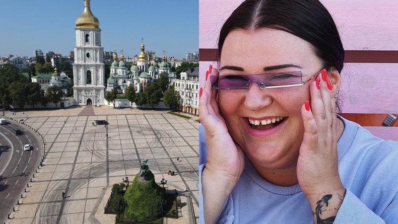 Дрифт на Софийской площади в Киеве: В машине была alyona alyona