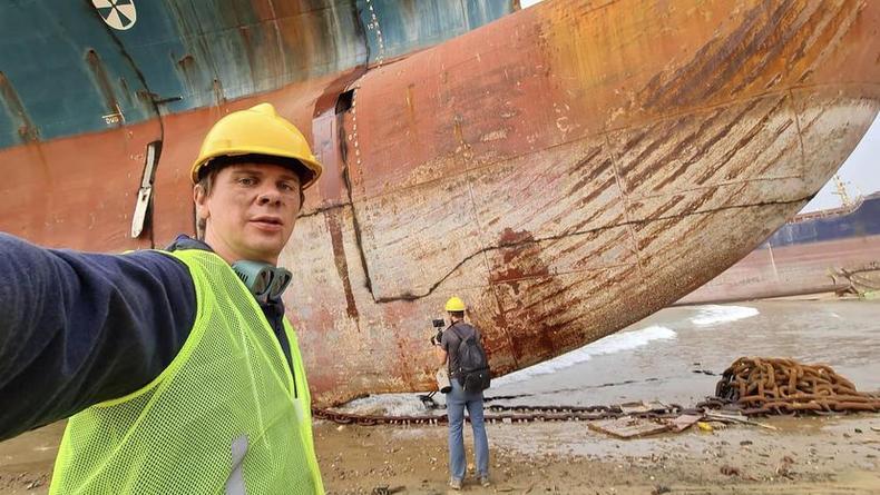 Комаров показал кладбище кораблей в Пакистане - фото